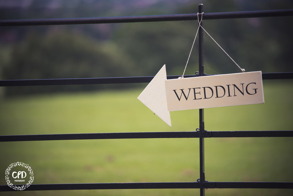Arrow wedding sign