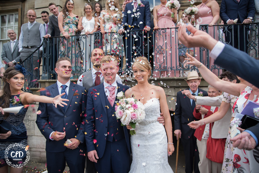 Bride and Groom Confetti Shot