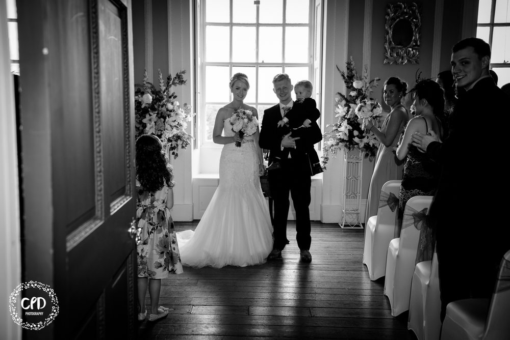 Bride and Groom leaving the ceremony room