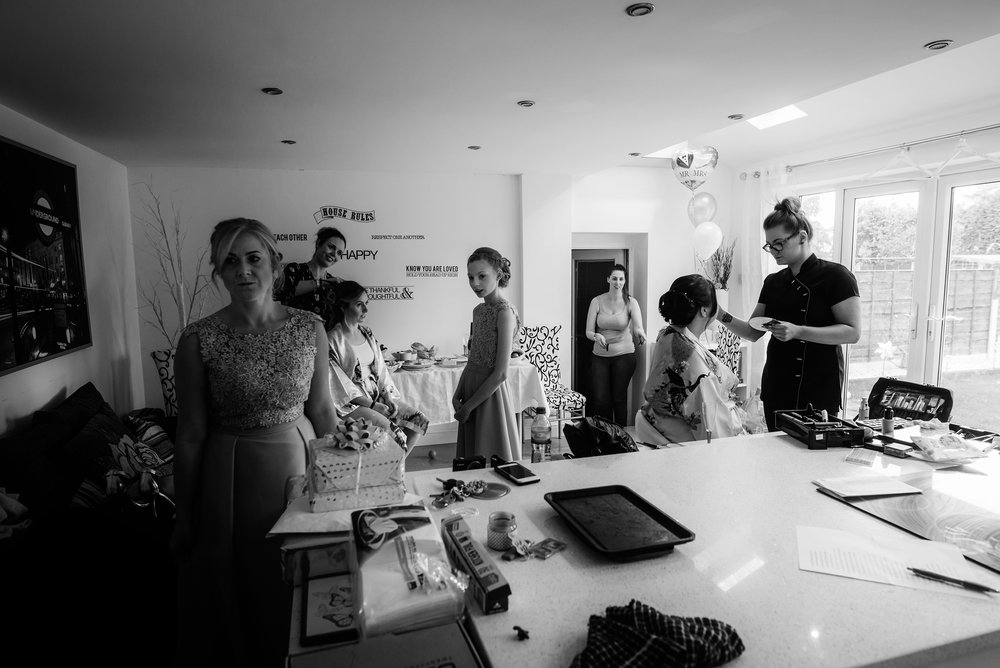 The mayhem of bridal preparations