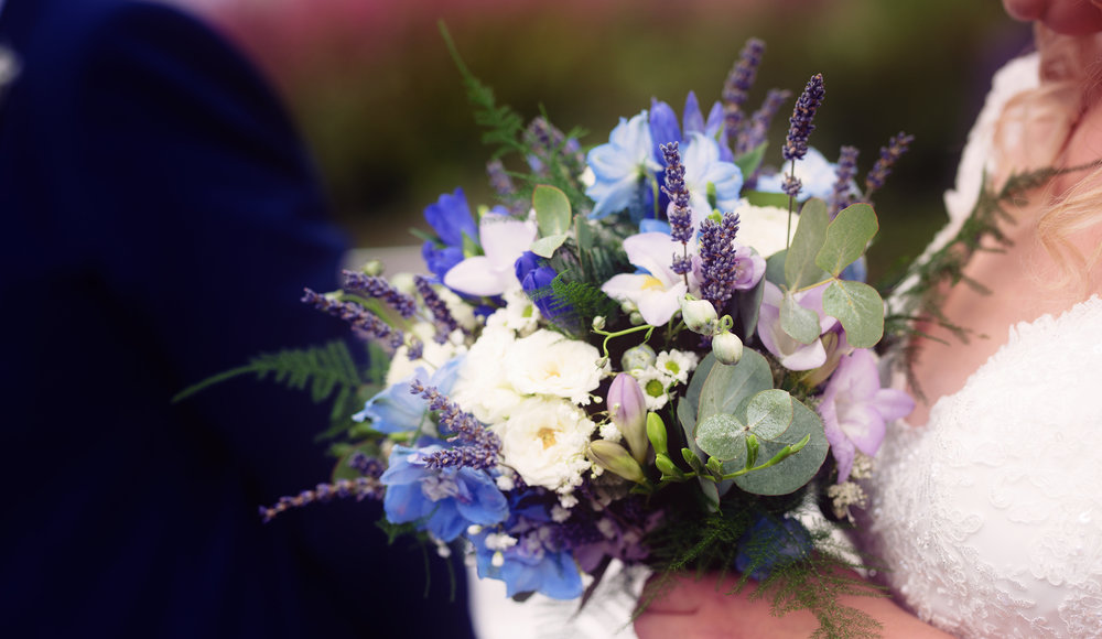 Brides beautiful flowers