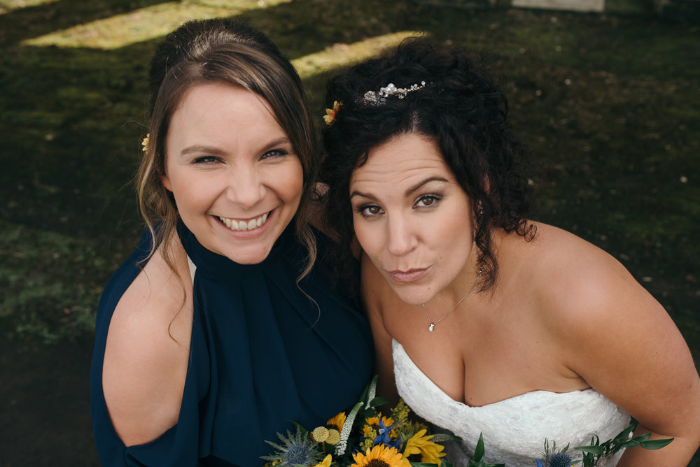 The bride and her sister portrait