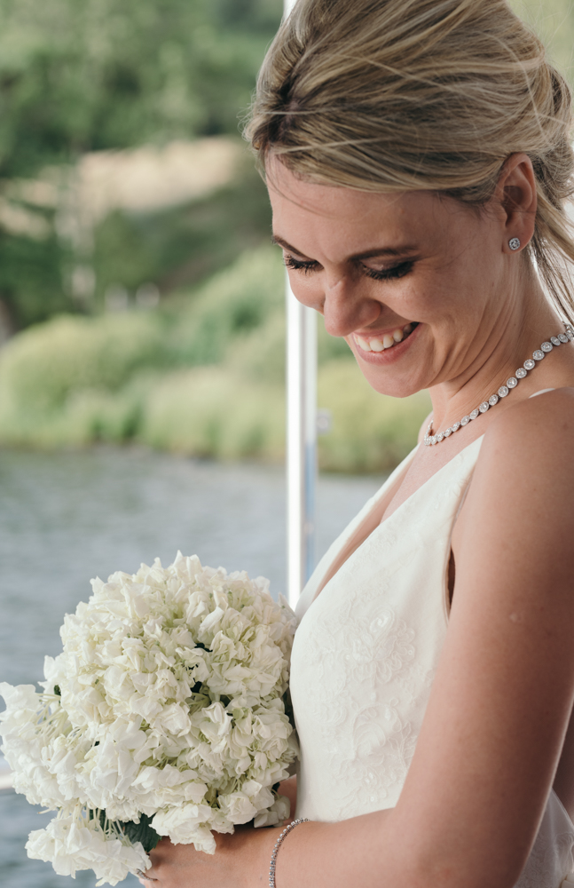 A nice portrait of the bride taken during the lake cruise