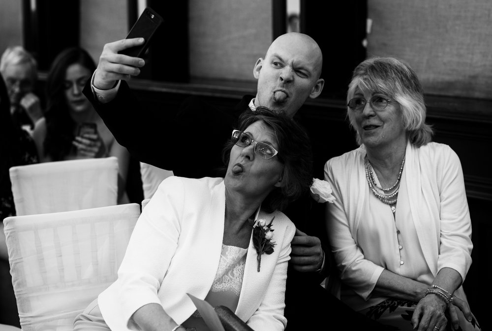 Brides mother and friends taking a mad selfie