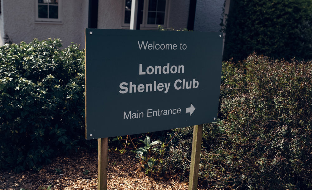The welcome sign for Shenley Cricket Club