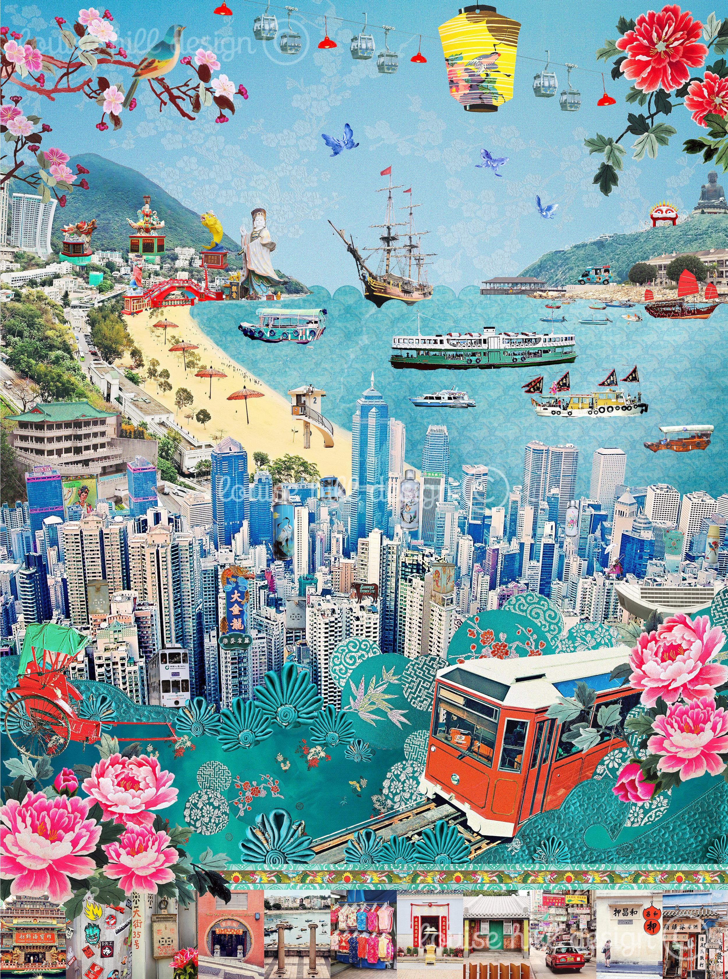 we love hong kong louise hill design