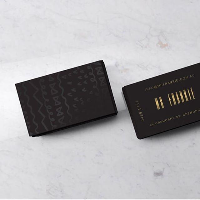 Ms Frankie business card design @whoismsfrankie . . . #design #creative #art #creative #branding #brand #melbournedesign #designer #whoismsfrankie #melbourne #u #unicor #green #logo #logodesign #graphicdesign #businesscards #logoform #letterdesign #icon #goldfoil
