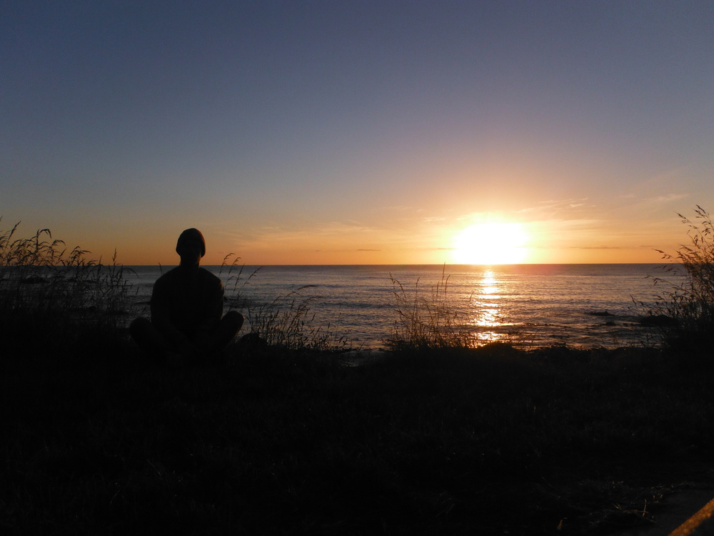 This was me in NZ, all alone in the world, with just myself for company on a long journey!
