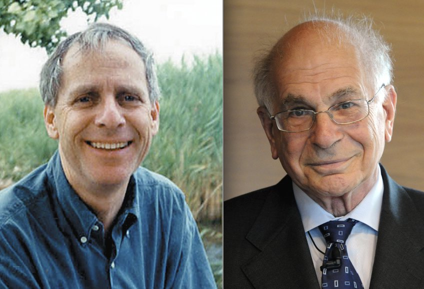 Tversky on the left, Kahneman on the right.