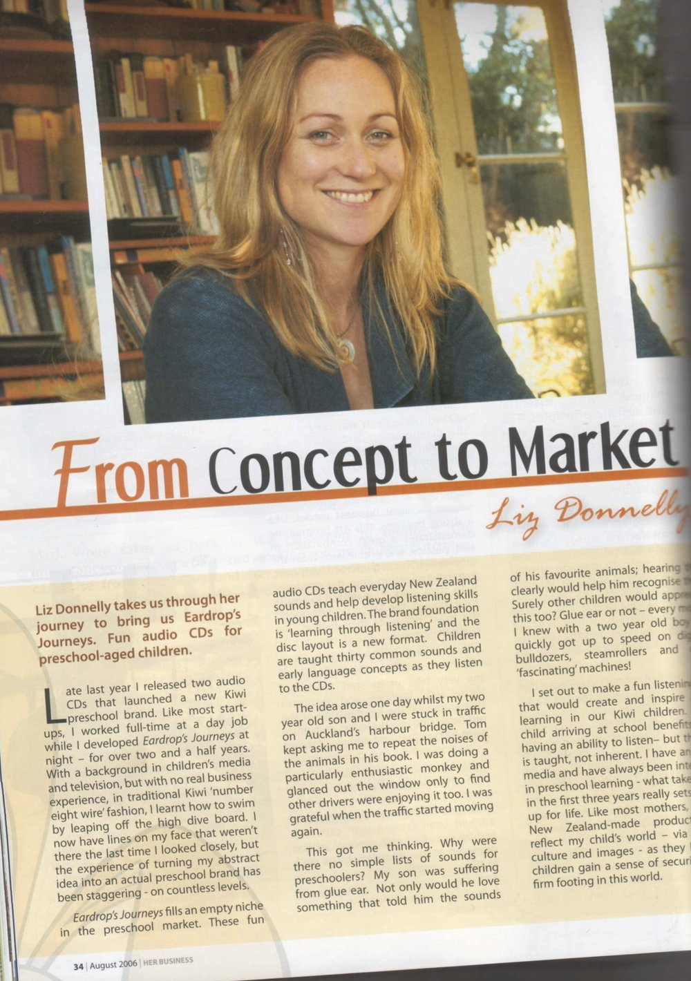 Liz Donnelly profile in Her Business magazine