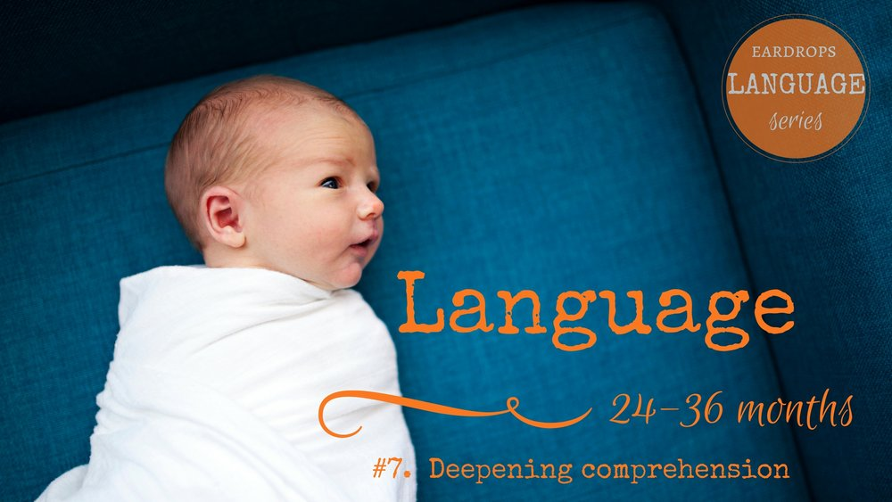 Toddler language development 24 to 36 months - language series 7