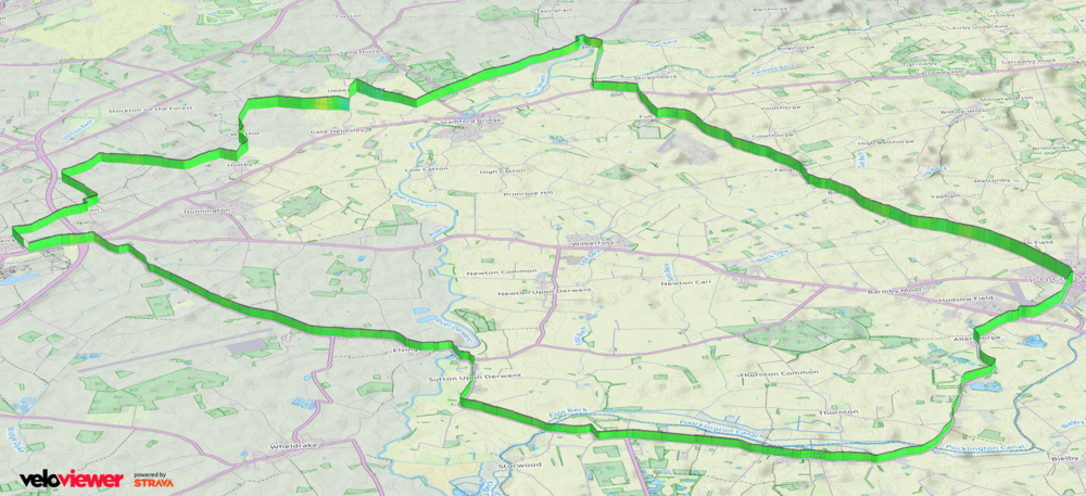 3D Profile of Thursday's route