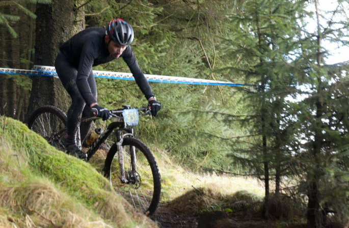 Chris racing at Innerleithen