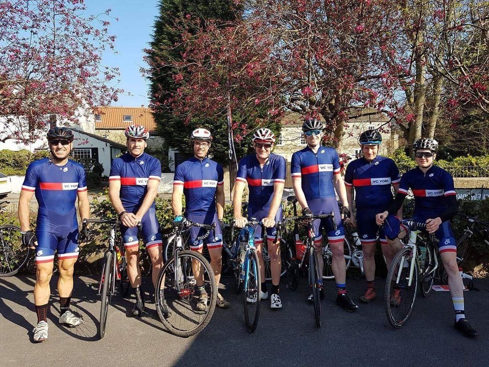 Some of the VC York riders at Scotton. Photo by Lucy Hudson