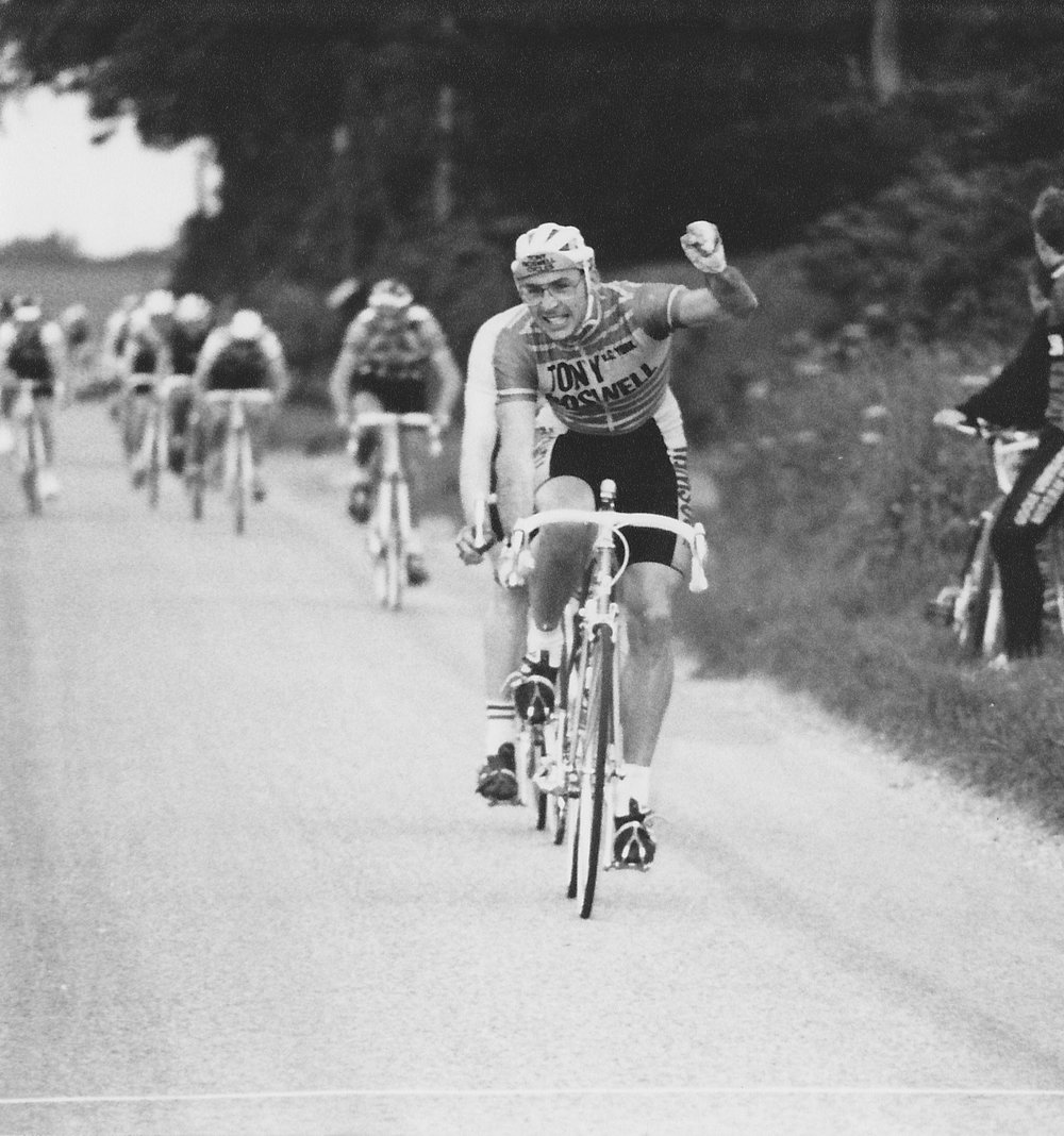 Jonathan Grant winning the Ken Eleker RR at South Cave, 1986