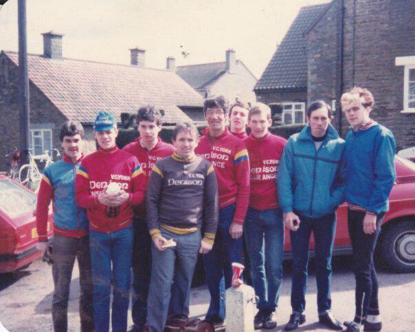 Fairly early days ! At road race round Terrington circuit , recognise anyone ? 83/4