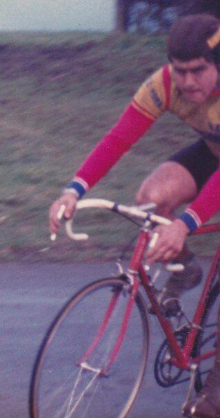 A young(er) John Hook in action on the Terrington circuit.