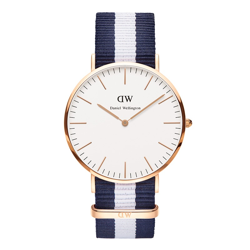 Daniel Wellington Glasgow rose gold 40mm watch