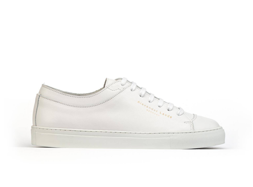 Alexander Laude White leather sneakers