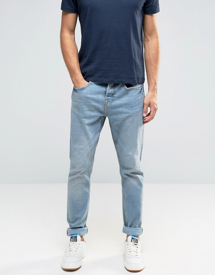 Pull&Bear Slim Jeans In Light Wash.jpg