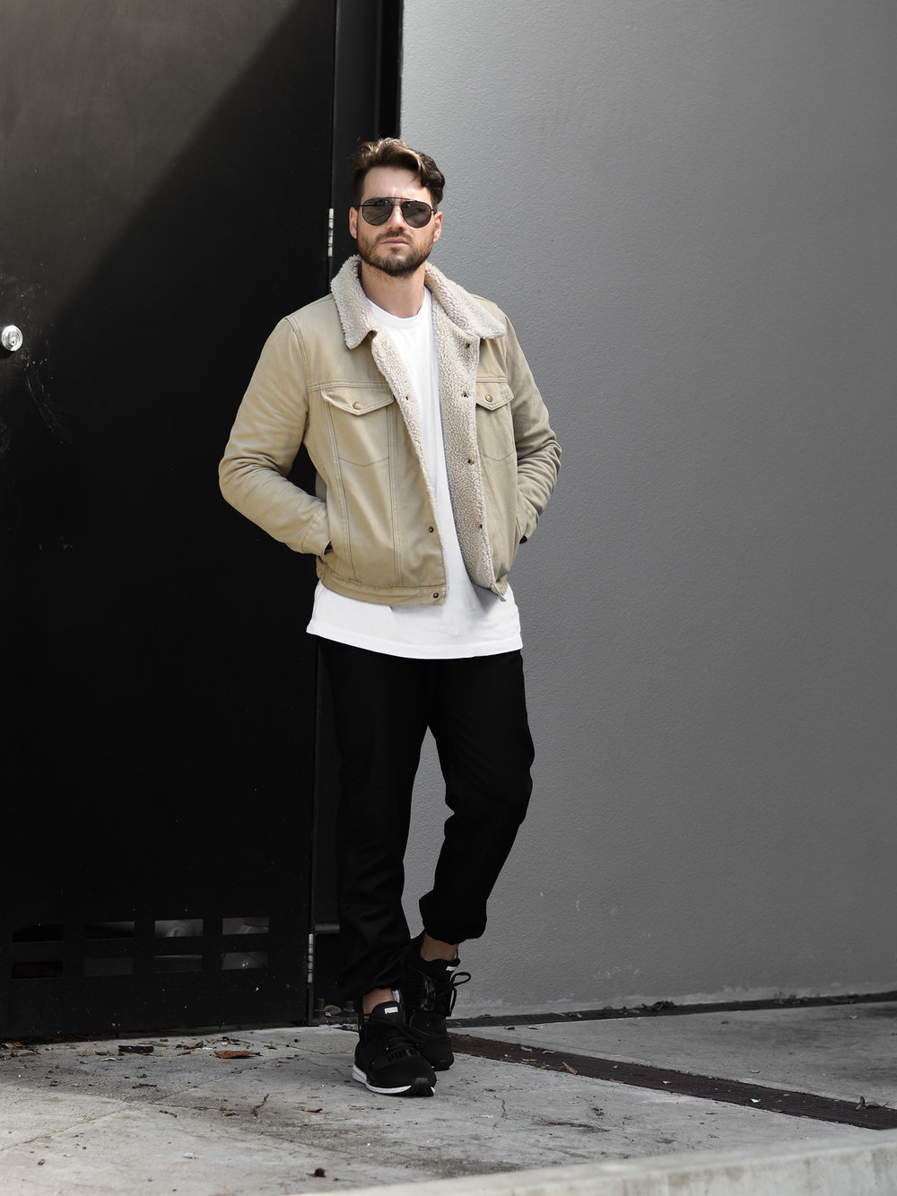 jaheb_barnett_mens_fashion_blogger_rollas_sherpa_denim_jacket_acne_studios_wool_pants_puma_ignite_sneakers_bailey_nelson
