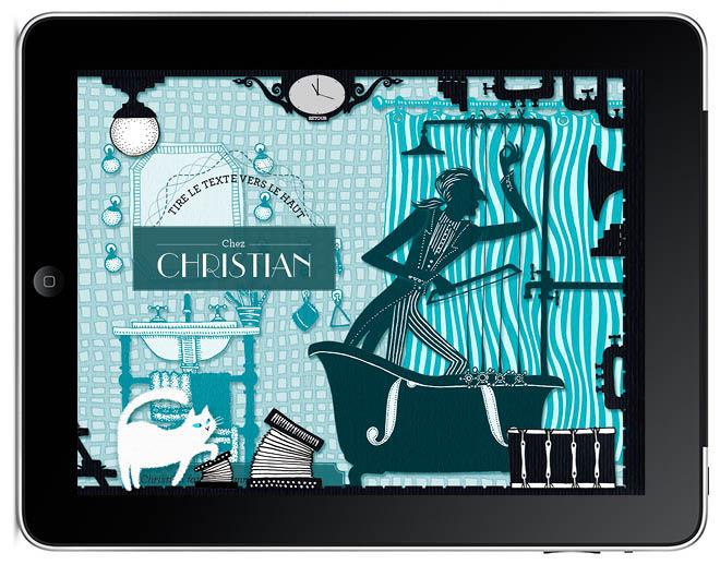 chez christian Le secret de Nono livre application I-pad illustration Amandine Delaunay
