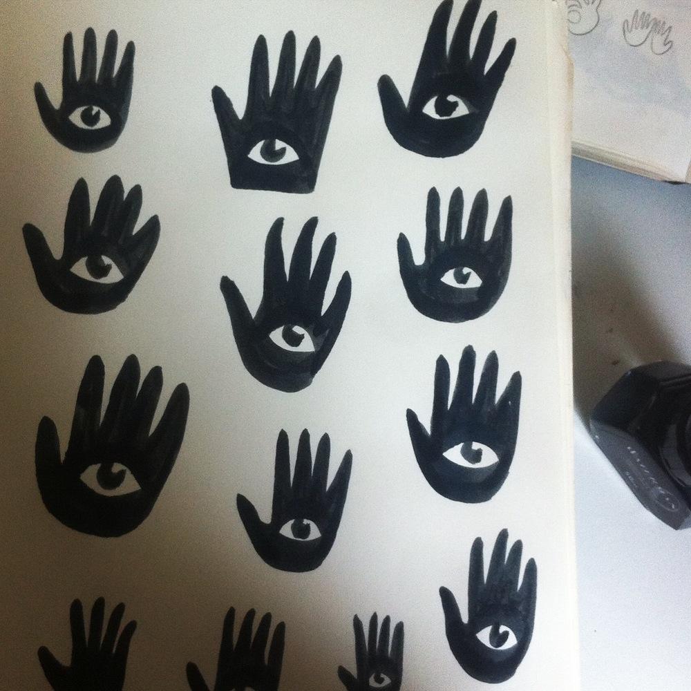 esquisses encre Amandine Delaunay