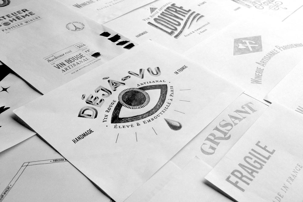 œil typographie handmade Amandine Delaunay