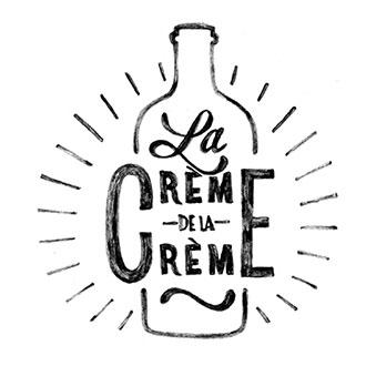 pictogramme lettrage creme de la creme winerie parisienne