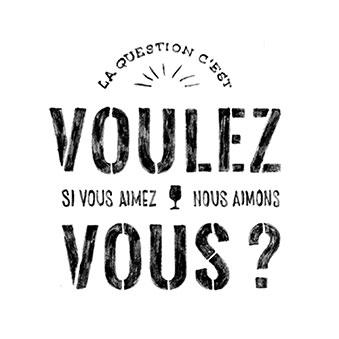 voulez vous pictogramme winerie parisienne lettrage à la main