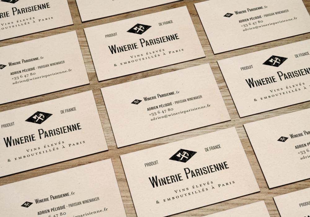 cartes de visite winerie parisienne
