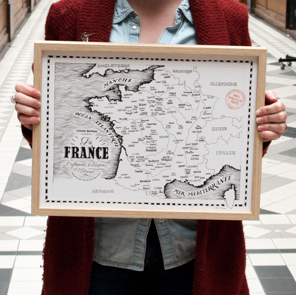 carte france vulgaire paiarde amandine delaunay l'illustre boutique