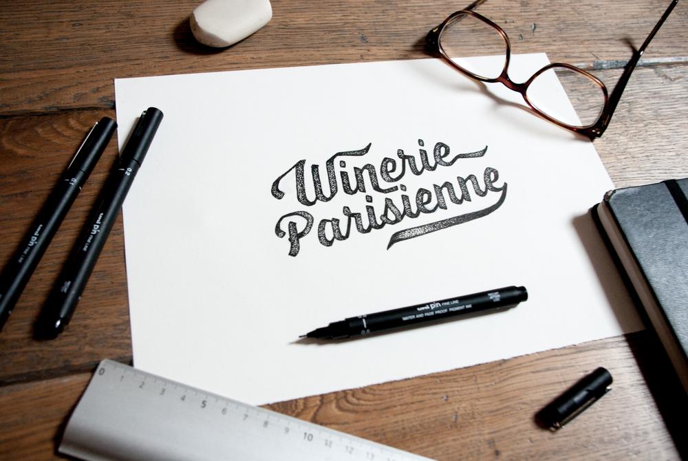 lettering Amandine Delaunay