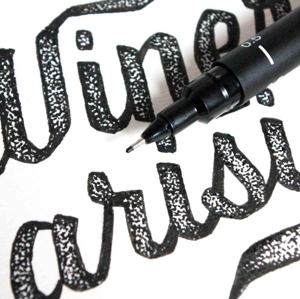 lettres typographie à la  main amandine delaunay