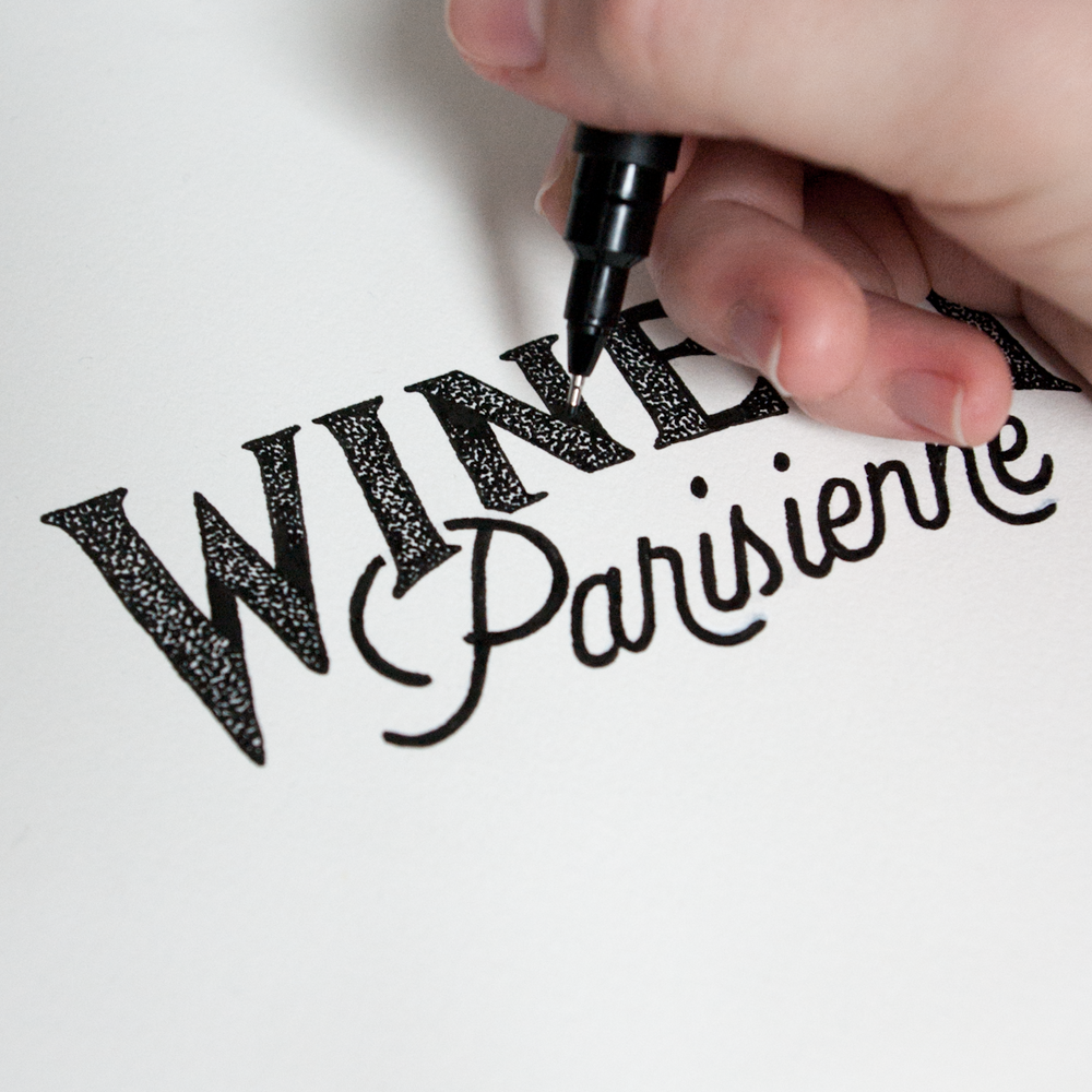 typographie main lettering winerie parisienne amandine delaunay