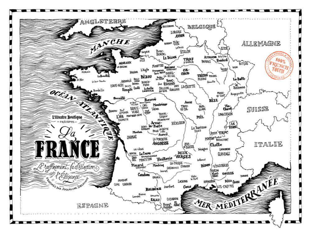 douce france map making cartography amandine delaunay
