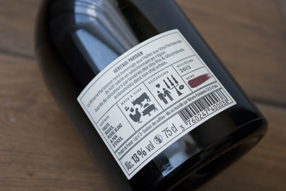 contre etiquette dos bouteille winerie parisienne amandine delaunay