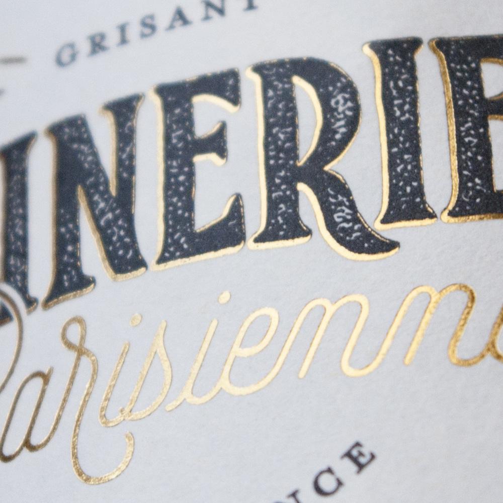 dorure à chaud gold foil winerie parisienne lettering amandine delaunay