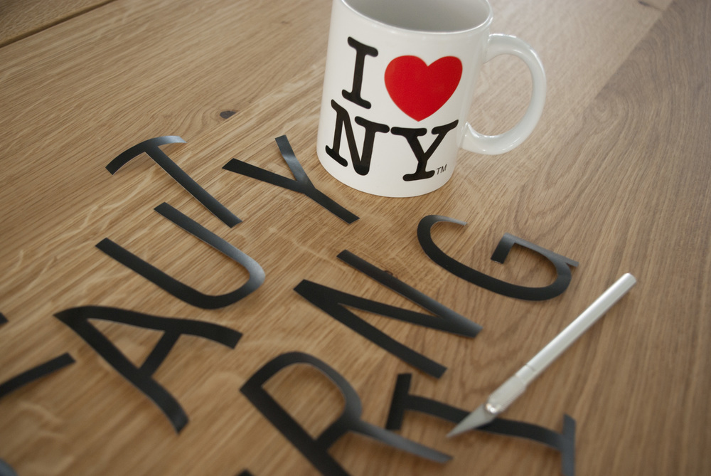 letters stickers claire lise bengué I love NY