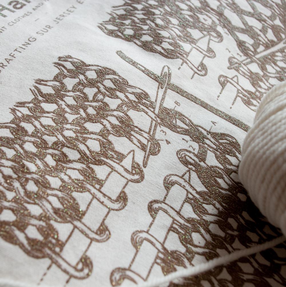 alice Hammer tote bag serigraphie tricot illustration Amandine delaunay