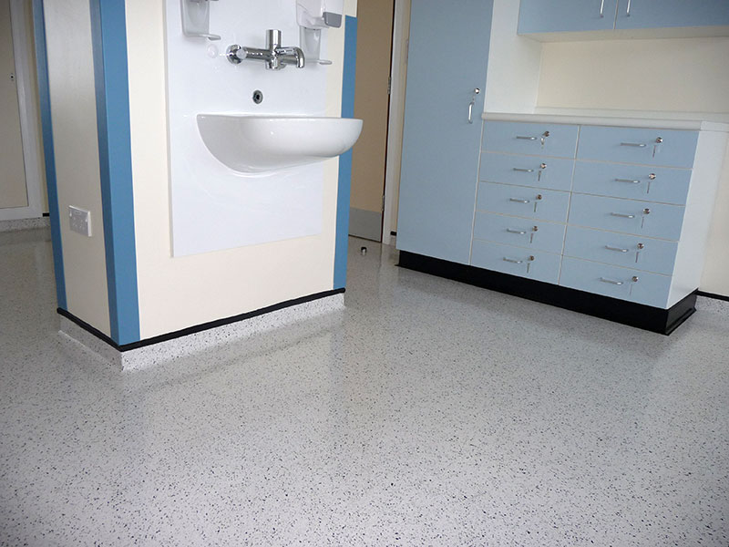 Stott Flooring Hospital Hygiene Area