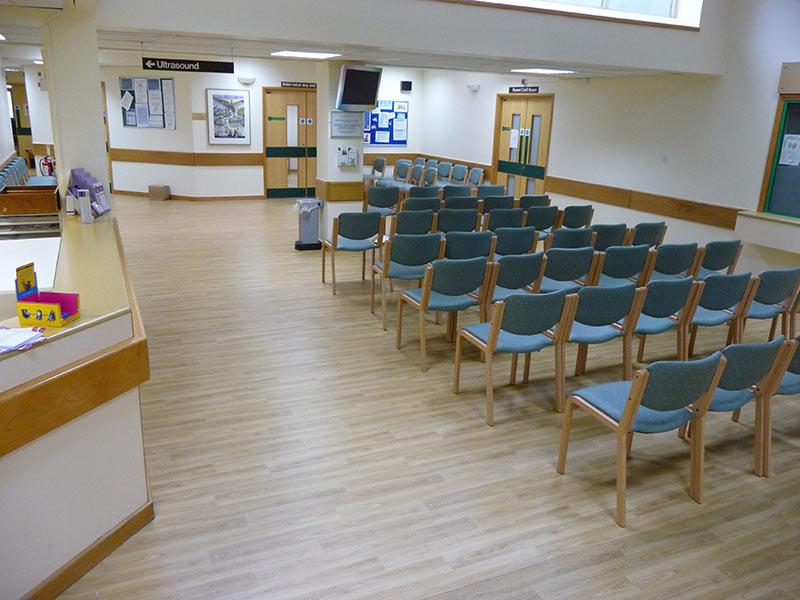 Stott Flooring Hospital Waiting Area