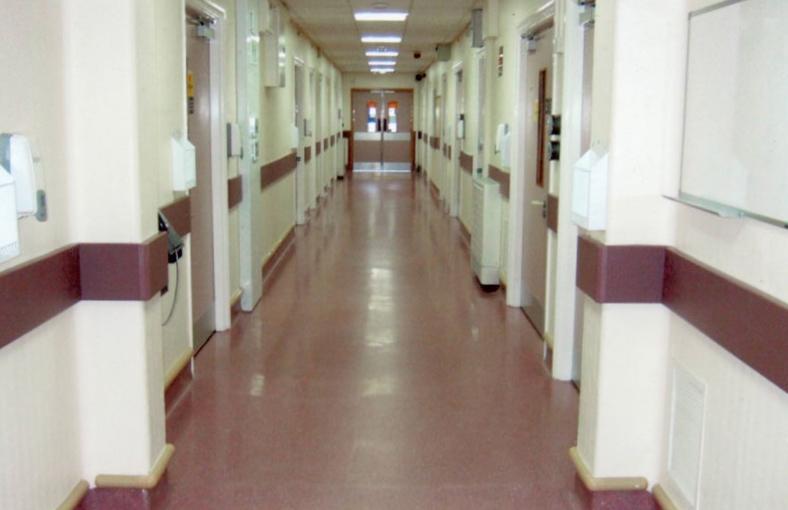 Stott Flooring Hospital Corridor
