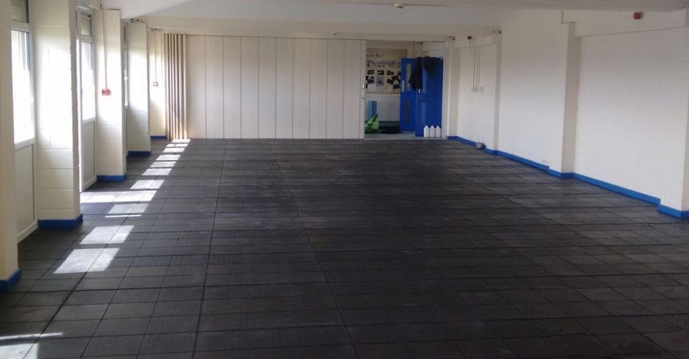 Stott Flooring school gym