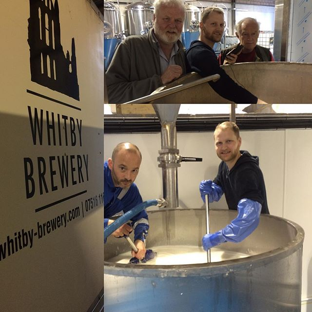 Brew day with @whitbybrewery at our soft, southern, shandy-drinking beer factory