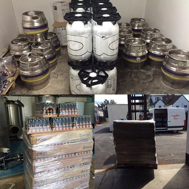 Heatwave? Bring it on. We've just stuck 2800 pints of our finest lager into bottles and kegs for you #heatwave #lager #monday #mondaymotivation