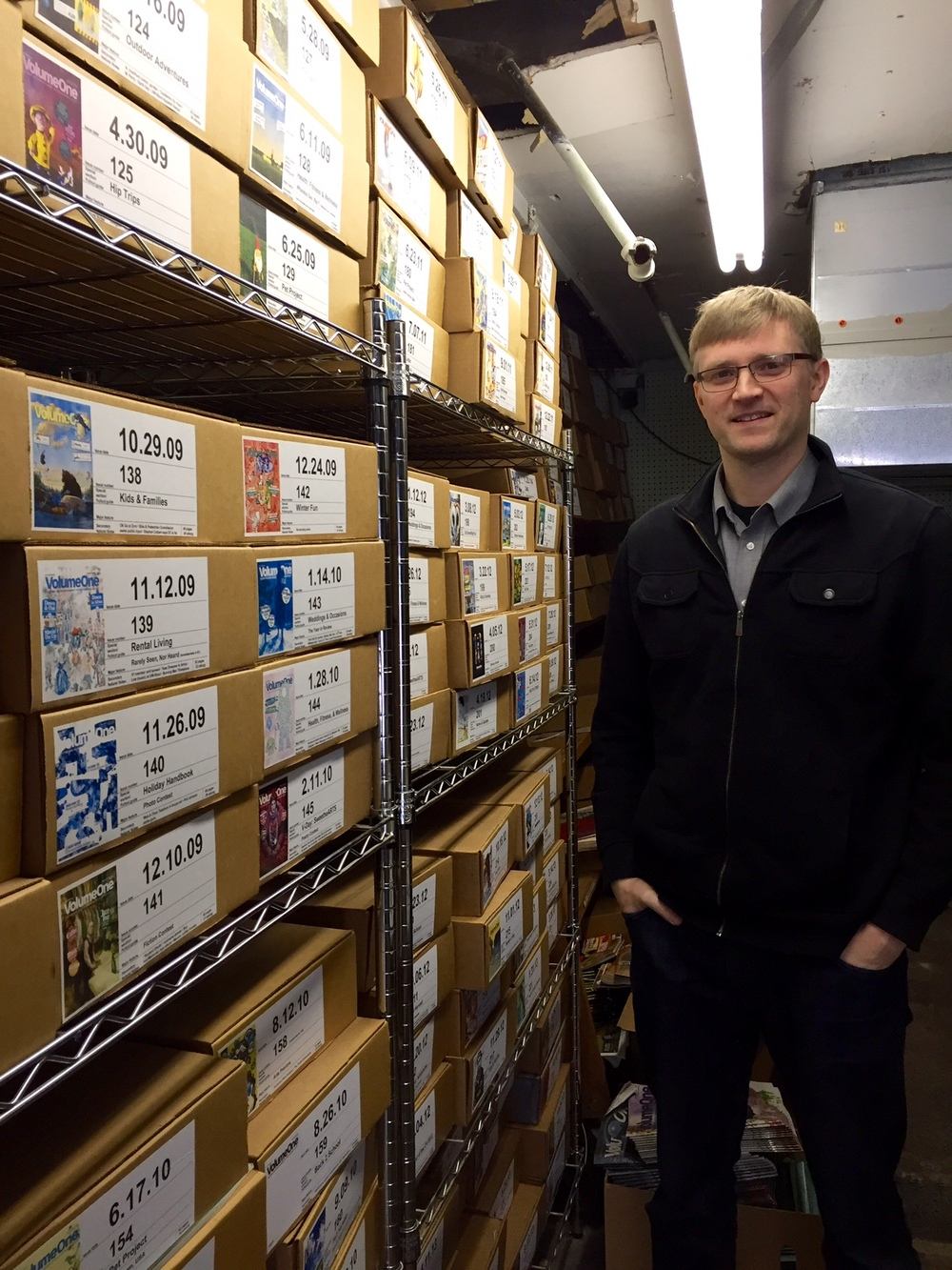 Volume One  publisher and co-founder Nick Meyer in the archive