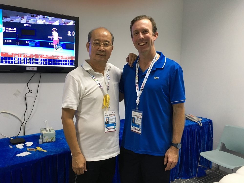 Dr Lee and Ben at China Open 2016