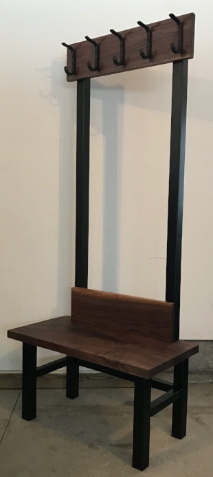 The Tube Steel Frame is finished in Oil Rubbed Bronze.