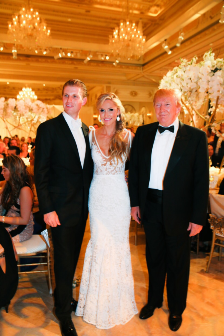 Pictured here with her new husband Eric and father in-law, Donald ...